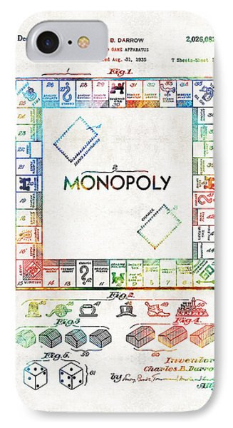 Monopoly Game Board Vintage Patent Art - Sharon Cummings IPhone Case by Sharon Cummings