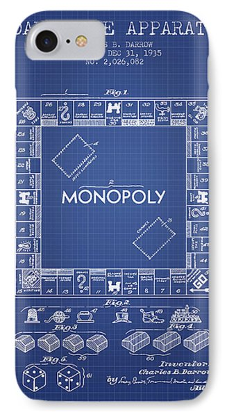 Monopoly Patent From 1935 - Blueprint IPhone Case by Aged Pixel