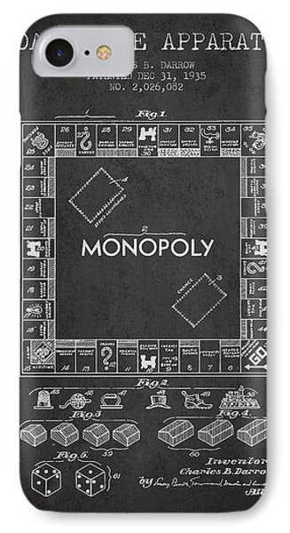 Monopoly Patent From 1935 - Dark IPhone Case by Aged Pixel