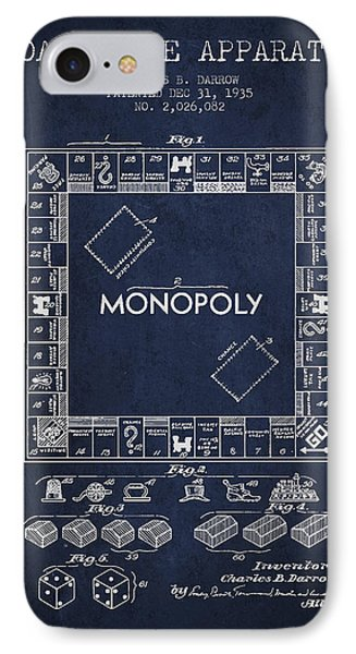 Monopoly Patent From 1935 - Navy Blue IPhone Case by Aged Pixel