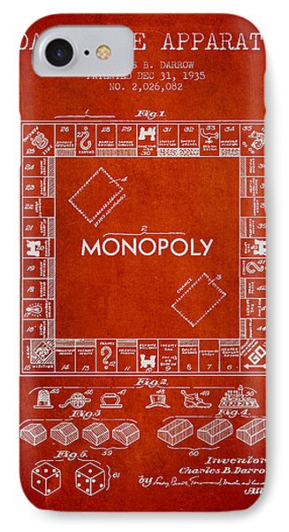 Monopoly Patent From 1935 - Red IPhone Case by Aged Pixel