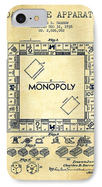 Monopoly Patent From 1935 - Vintage IPhone Case by Aged Pixel