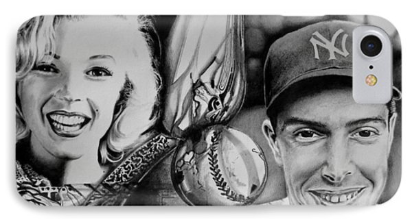 Monroe And Dimaggio IPhone Case by Geni Gorani