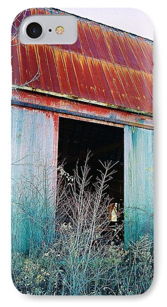 Monroe Co. Michigan Barn IPhone Case by Daniel Thompson