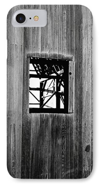 Monroe Co. Michigan Barn Window IPhone Case by Daniel Thompson