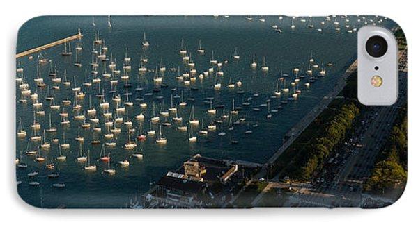 Monroe Harbor Chicago IPhone Case by Steve Gadomski