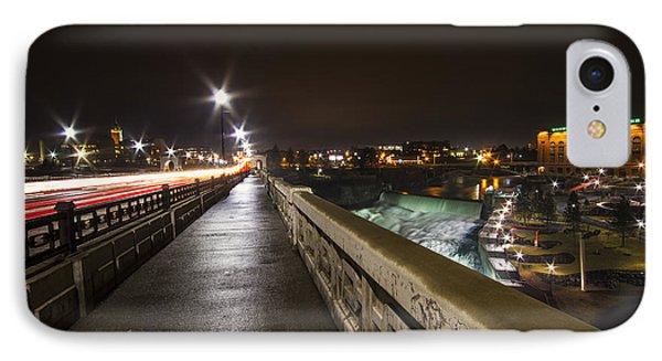 Monroe Street View - Spokane IPhone Case by Mark Kiver