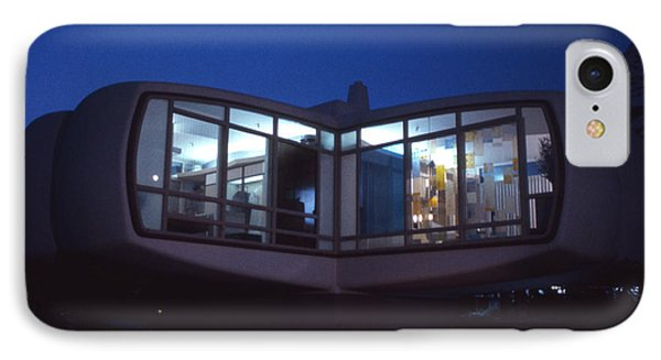 Monsanto House Of The Future At Disneyland At Night 1961 IPhone Case by The Harrington Collection