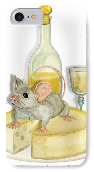 Monsieur Mouse IPhone Case by Anne Beverley-Stamps