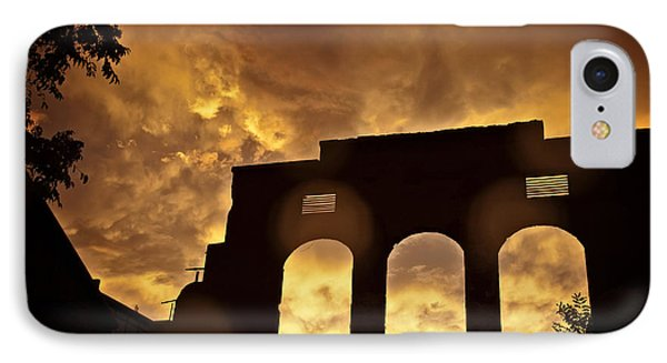 IPhone Case featuring the photograph Monsoon Clouds And The La Victoria In Jerome Az by Ron Chilston
