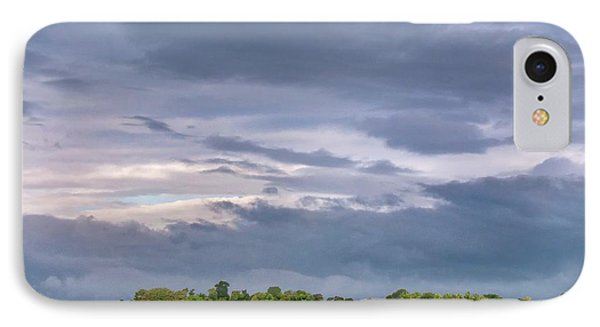 Monsoon Clouds Over Landscape IPhone Case by K Jayaram
