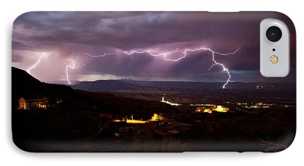 IPhone Case featuring the photograph Monsoon Lightning Jerome by Ron Chilston