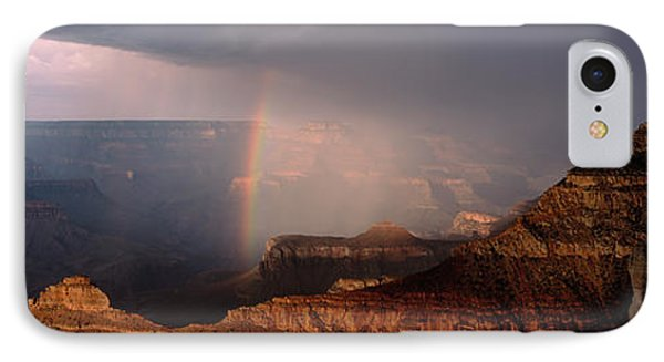 Monsoon Storm With Rainbow Passing IPhone Case by Panoramic Images