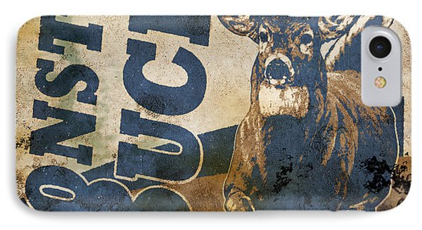 Monster Buck Deer Sign IPhone Case
