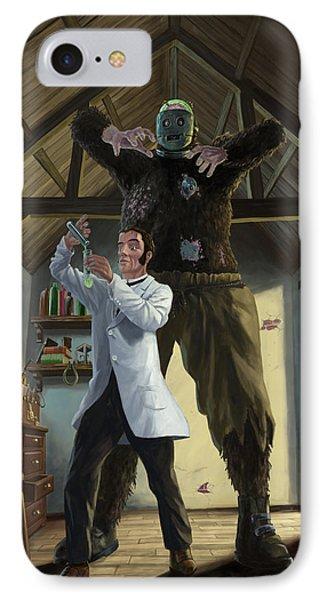 Monster In Victorian Science Laboratory IPhone Case