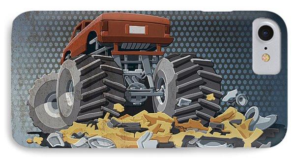 Monster Truck Grunge Color IPhone Case