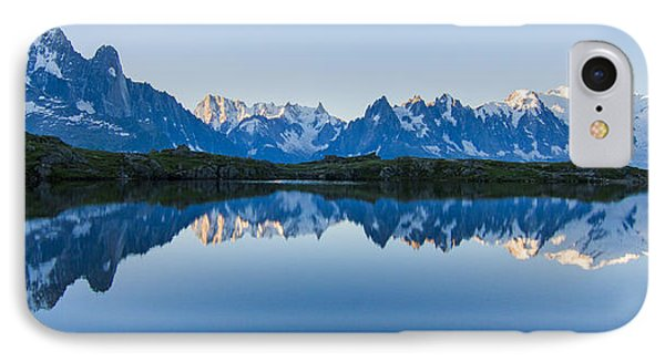 Mont Blanc Massif Panorama IPhone Case by Mircea Costina Photography