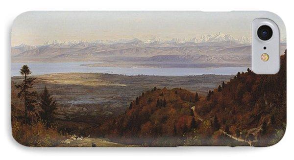 Mont-blanc Seen From Saint-cergues, 1869 IPhone Case by Francois Louis Francais