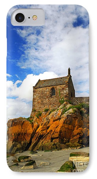 Mont Saint Michel Abbey Fragment IPhone Case by Elena Elisseeva