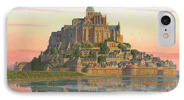 Mont Saint-michel Morn IPhone Case by Richard Harpum