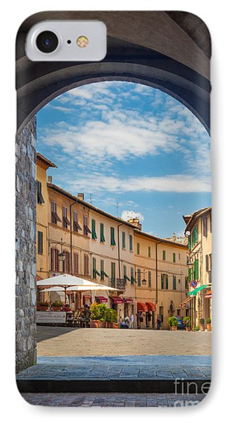 Montalcino Loggia Phone Case by Inge Johnsson