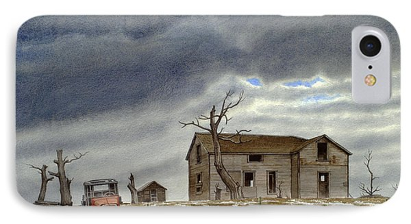 Montana Abandoned Homestead IPhone Case by Paul Krapf