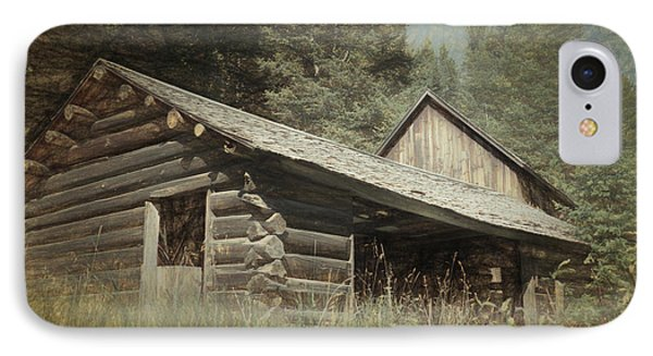 Montana Cabin IPhone Case by Richard Rizzo