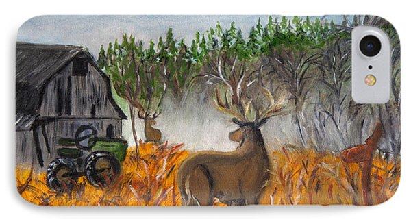 Montana Deer On The Farm IPhone Case