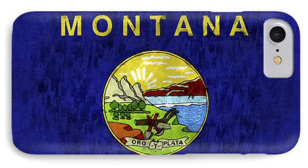Montana Flag Phone Case by World Art Prints And Designs