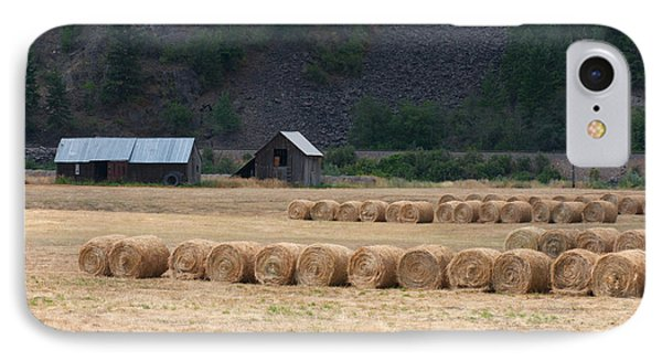 IPhone Case featuring the photograph Montana Hay Harvest by Vinnie Oakes