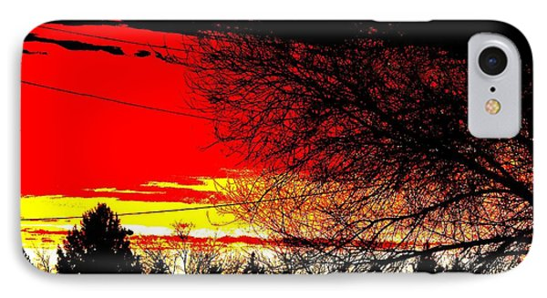 IPhone Case featuring the digital art Montana January Sunset by Aliceann Carlton