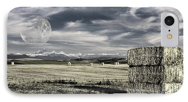 IPhone Case featuring the digital art Montana Moonrise by Bruce Rolff