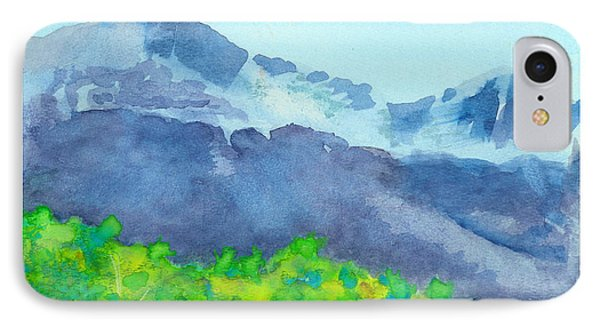IPhone Case featuring the painting Montana Mountain Mist by C Sitton