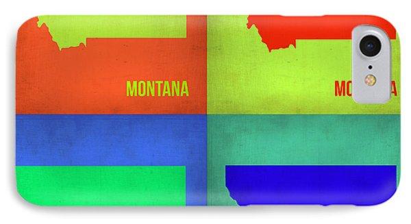 Montana Pop Art Map 1 IPhone Case by Naxart Studio