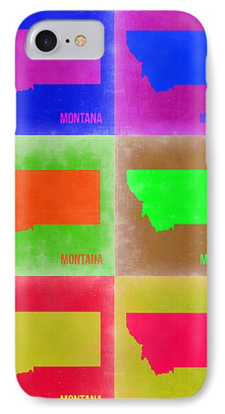Montana Pop Art Map 2 Phone Case by Naxart Studio