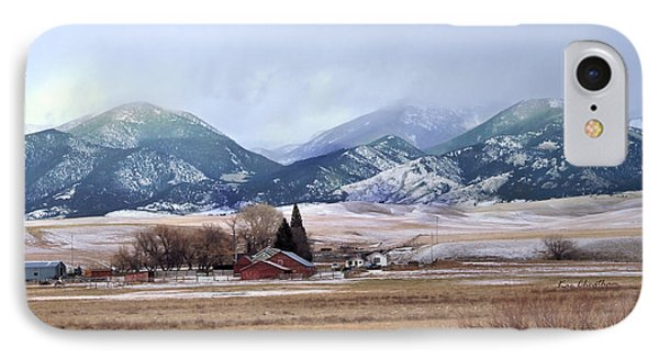 Montana Ranch - 1 IPhone Case by Kae Cheatham
