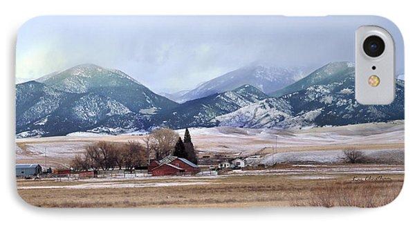 Montana Ranch - 1 IPhone Case by Kae Cheatham