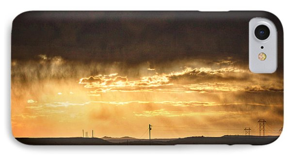 Montana Sky Storm Approach IPhone Case by Kate Purdy