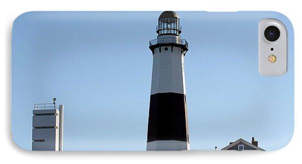 Montauk Lighthouse As Seen From The Beach IPhone Case by John Telfer