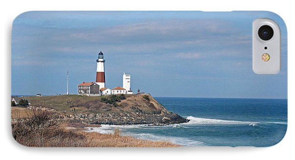 IPhone Case featuring the photograph Montauk Lighthouse/camp Hero by Karen Silvestri