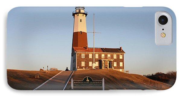 Montauk Lighthouse Entrance IPhone Case