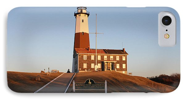 Montauk Lighthouse Entrance IPhone Case by John Telfer