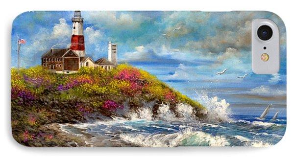 Montauk Lighthouse IPhone Case by Patrice Torrillo