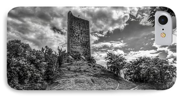 Montcuq Tower IPhone Case by Tony Priestley