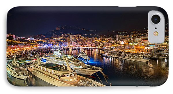 Monte Carlo Harbor Phone Case by John Greim