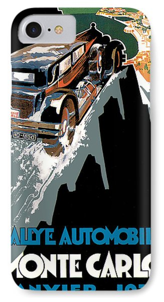 Monte Carlo - Vintage Poster Phone Case by World Art Prints And Designs