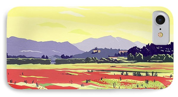 Monte San Quirico, Lucca, 2003 Gouache On Paper IPhone Case