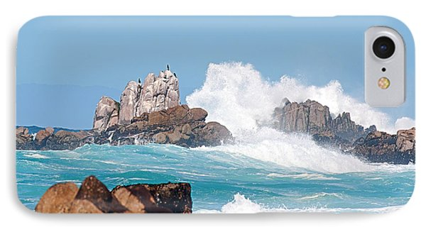 Monterey Bay Waves Phone Case by Artist and Photographer Laura Wrede
