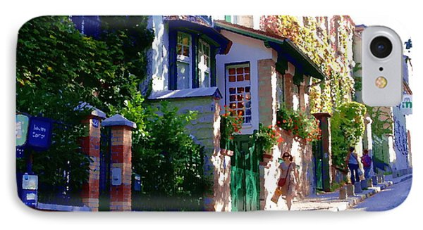 IPhone Case featuring the photograph Walk In Montmartre  by Jacqueline M Lewis