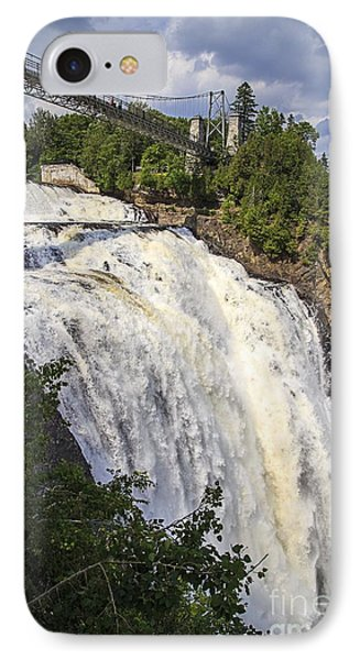 Montmorency Falls Park Quebec City Canada Phone Case by Edward Fielding